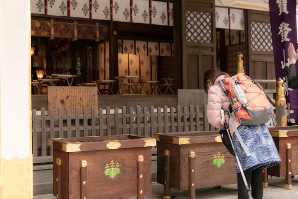 宝登山神社で参拝