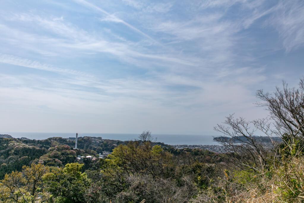 鎌倉ハイキング 衣張山 山頂からの眺め