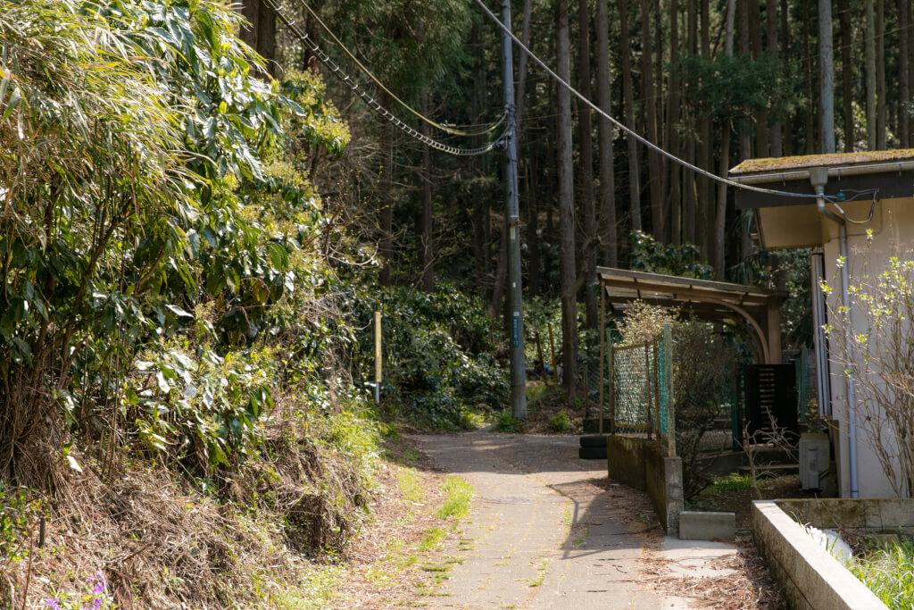 鎌倉ハイキング 衣張山 下山口