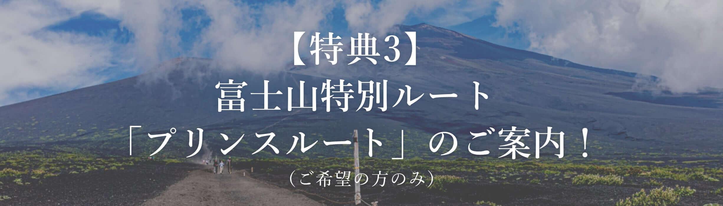 【特典3】富士山特別ルート「プリンスルート」のご案内!(ご希望の方のみ)