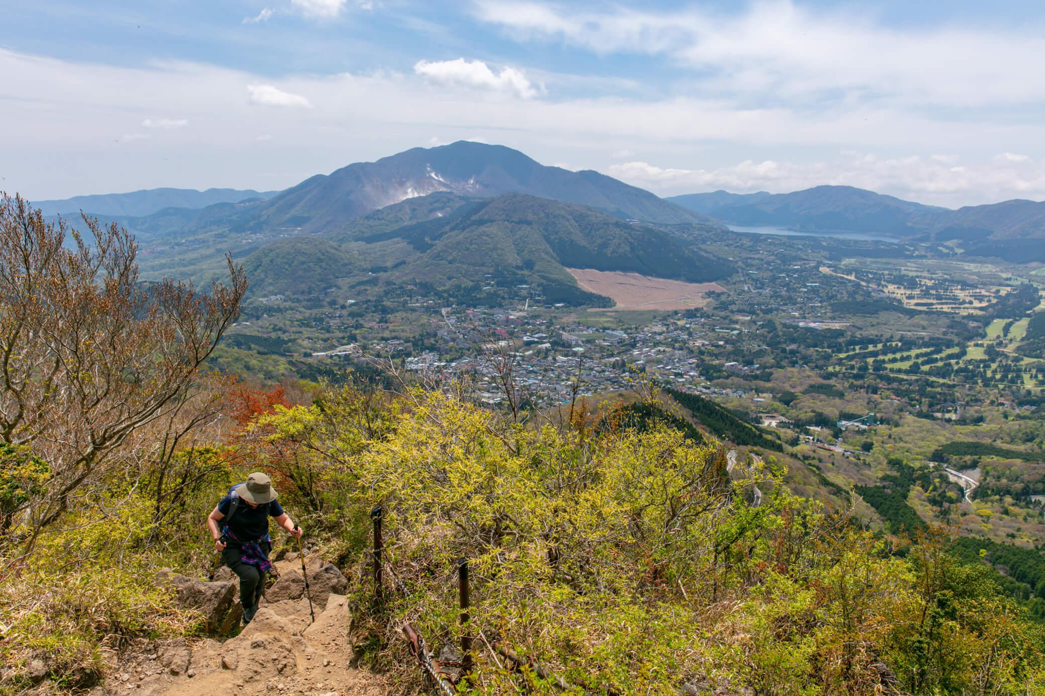 金時山 箱根山を遠望