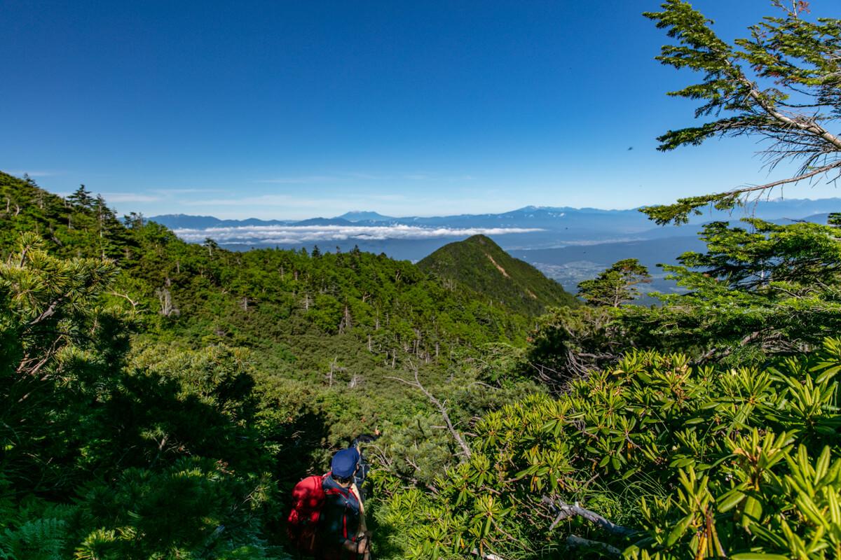 八ヶ岳 オーレン小屋〜硫黄岳 登山道