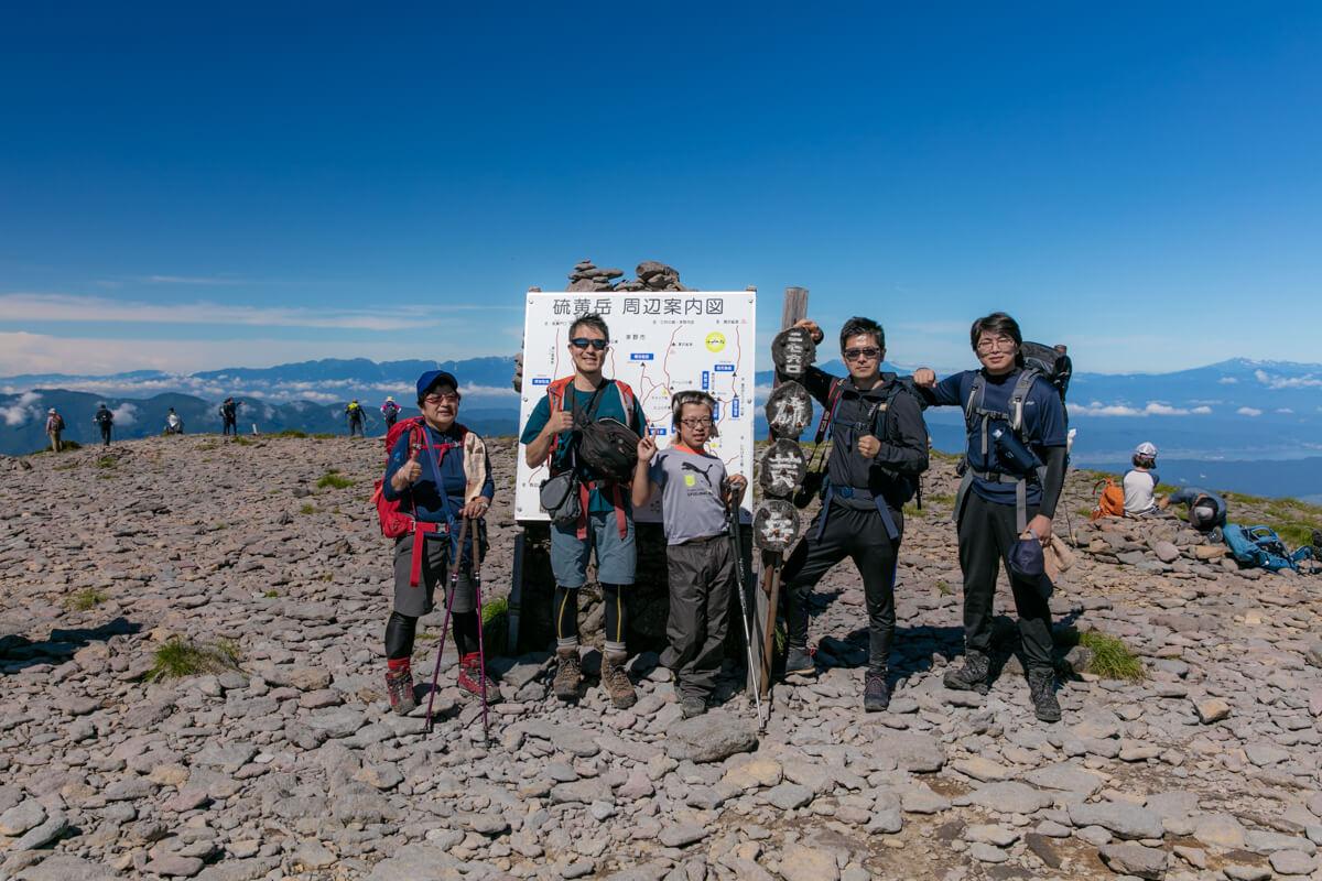 八ヶ岳 硫黄岳 山頂