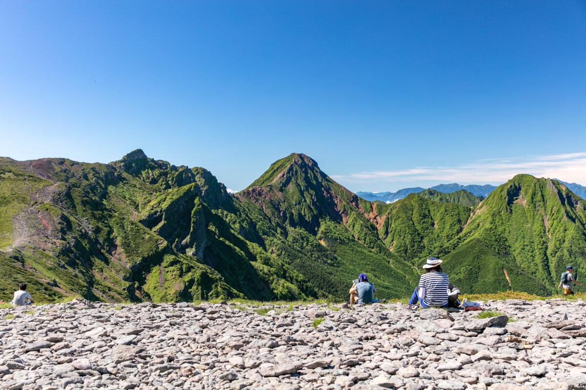 八ヶ岳 硫黄岳山頂からの眺め