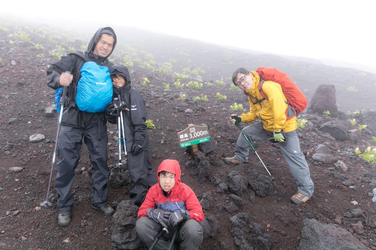 富士山 御殿場ルート 標高3,000m地点