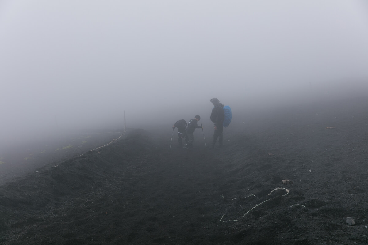 富士山 御殿場ルート 下山 大砂走り