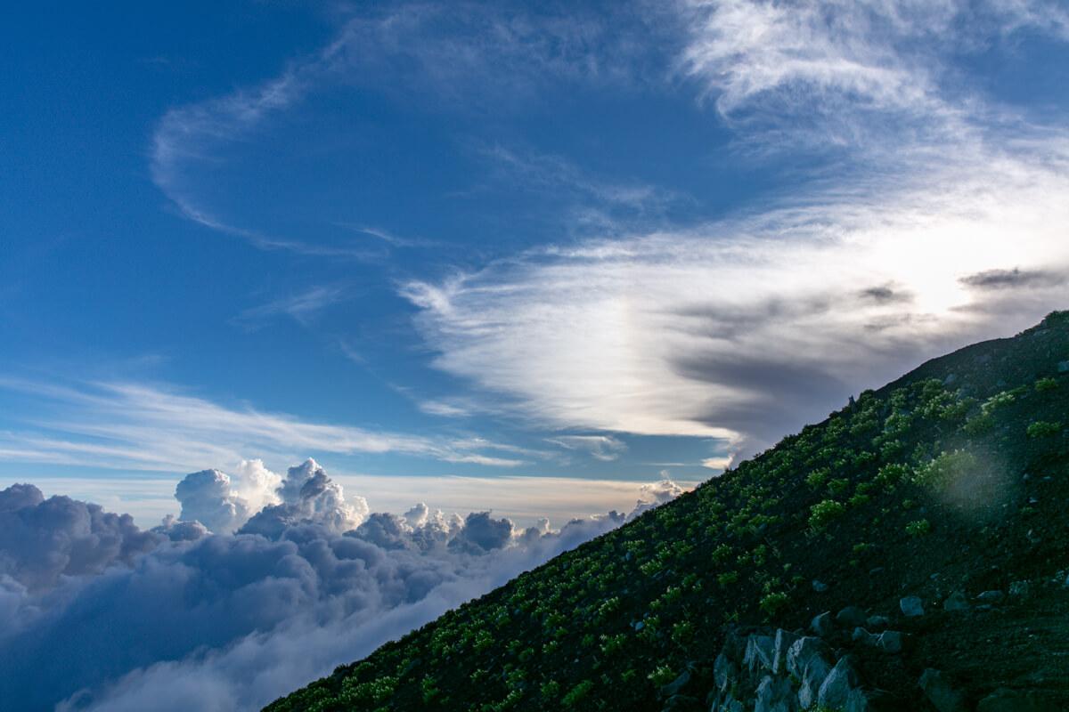 富士山富士宮口 新七合目からの景色