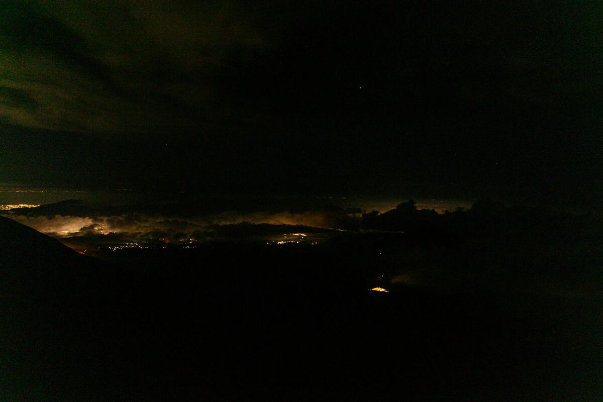 富士山富士宮口 新七合目からの夜景
