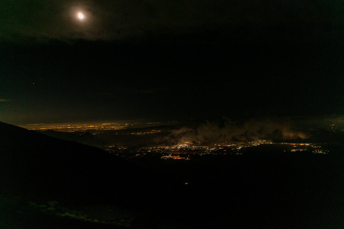 富士山富士宮口 元祖七合目 夜景