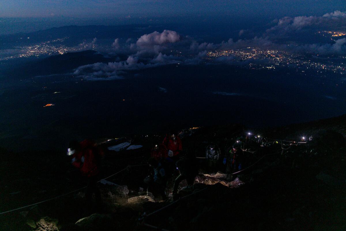 富士山富士宮口 九合五勺〜山頂
