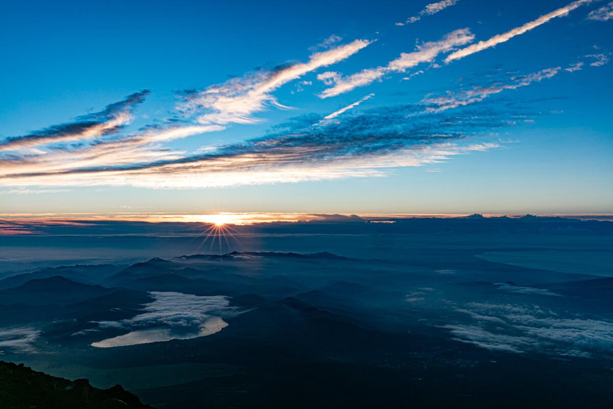 富士山富士宮口 山頂 御来光