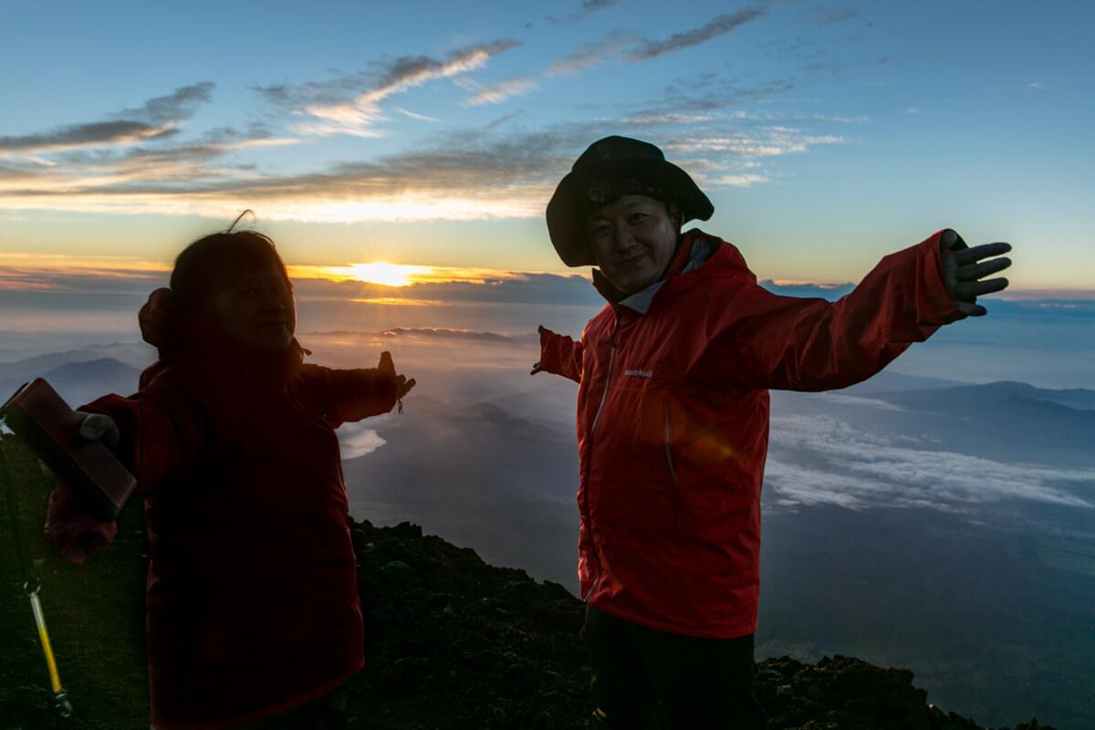富士山富士宮口 登頂