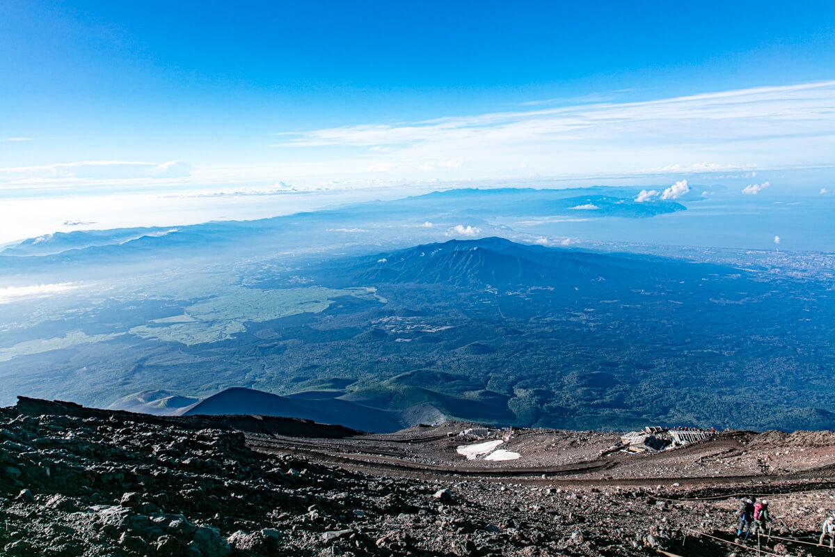 富士山富士宮口 山頂直下
