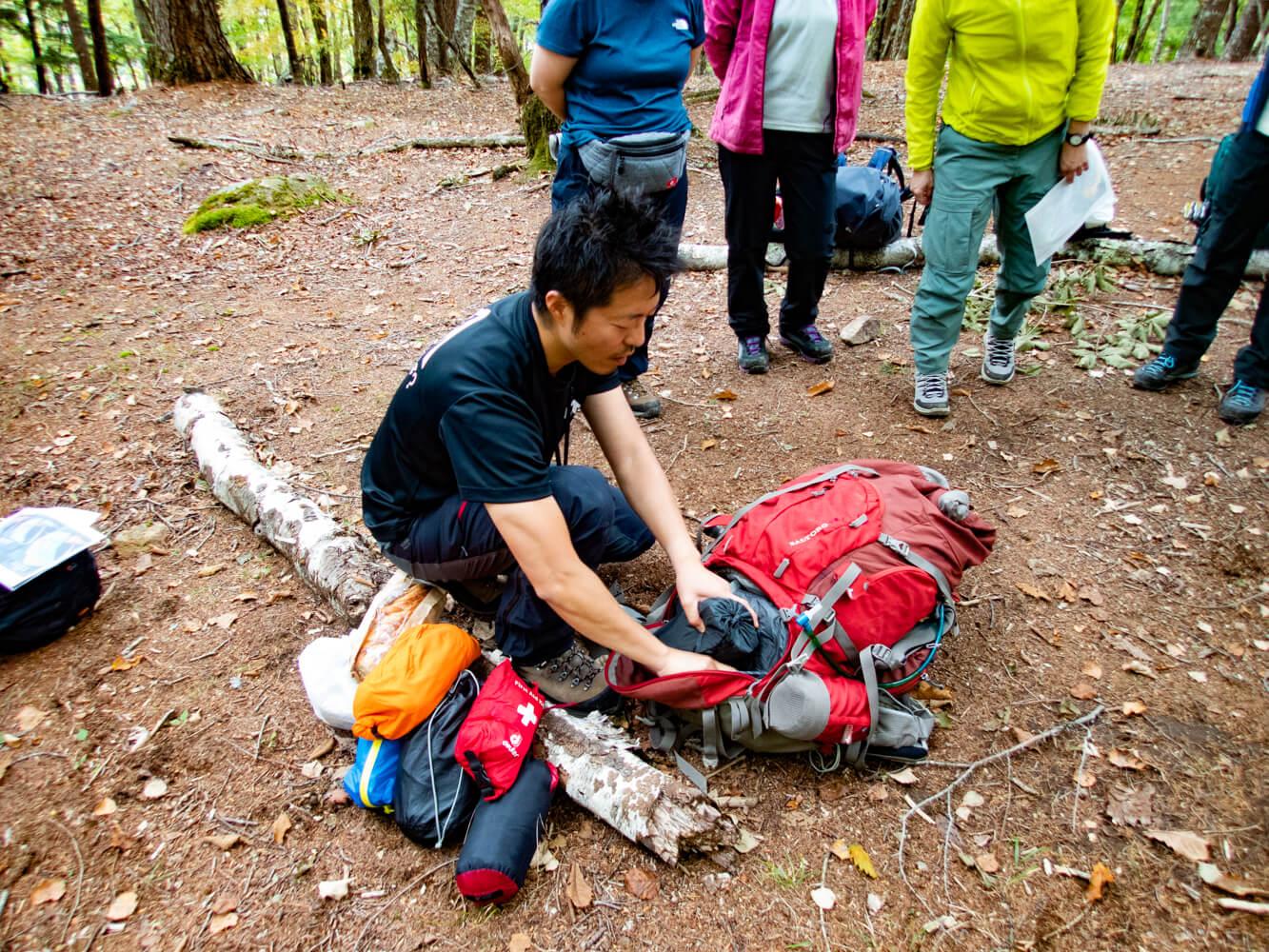 y-hey 登山のパッキングの仕方を説明